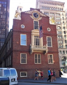 Old State House, Boston, MA. (Photo: Sarah Sundin, July 2014)