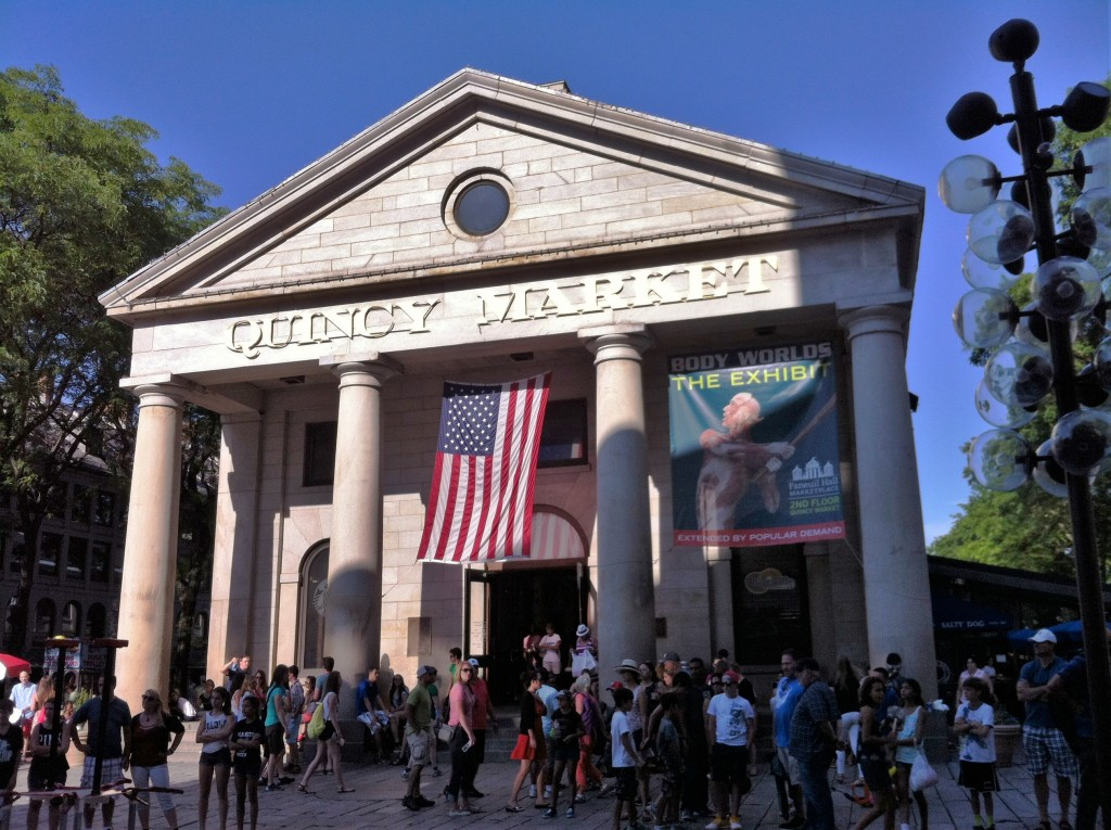 Quincy Market, Boston, MA (Photo: Sarah Sundin, July 2014)