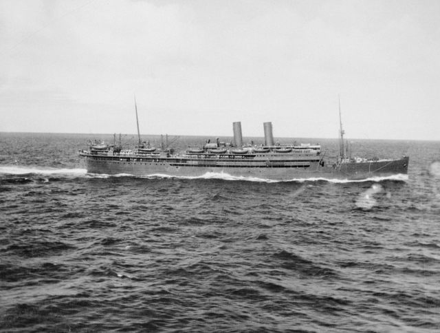 Dutch ocean liner SS Slamat, August 1940 (Australian War Memorial: 303942)