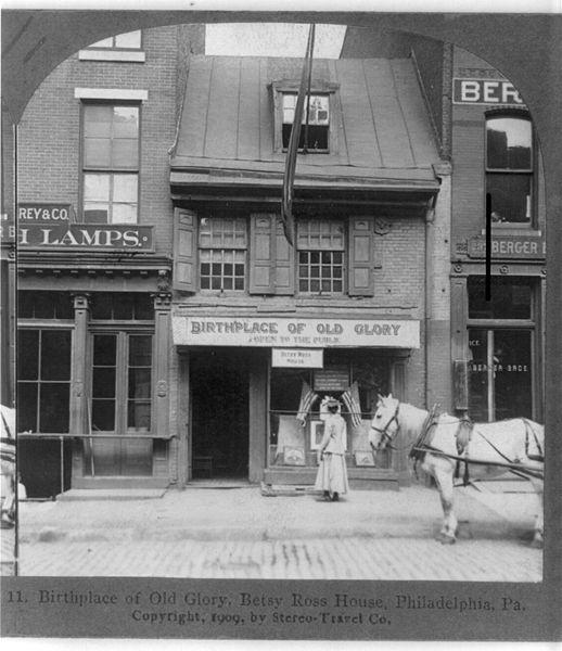 Betsy Ross House, Philadelphia, PA, 1909 (Library of Congress: digital ID cph.3b17485)