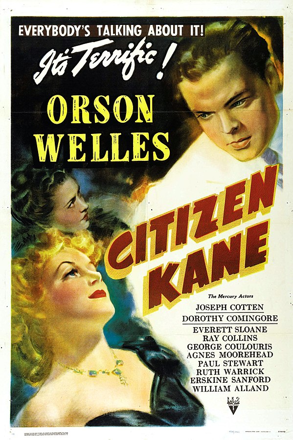 Movie poster for the US release of Citizen Kane, 1941 (public domain via Wikipedia)