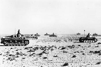 German tanks near Sollum, Egypt, circa 16 Jun 1941 (Imperial War Museum: 5712-03 MH 5588)