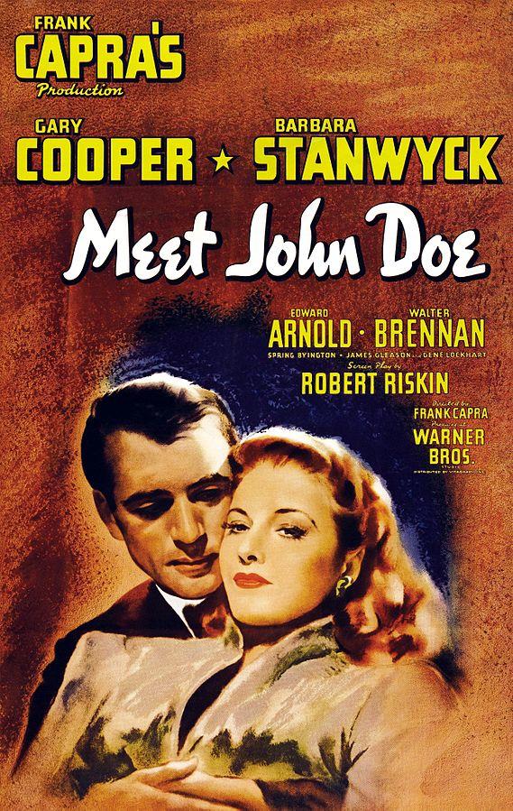 Movie poster for Meet John Doe, 1941 (public domain via Wikipedia)
