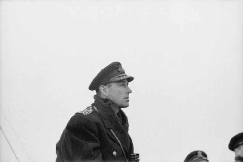 Capt. Louis Mountbatten on the bridge of HMS Jackal, 1940s (Imperial War Museum: A 472)
