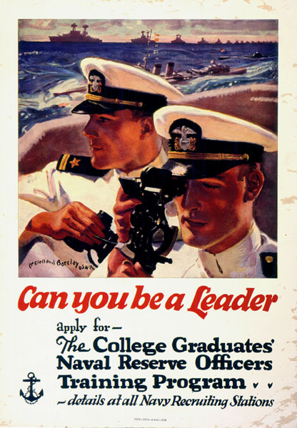 Poster for the College Graduates' Naval Reserve Officers Training Program, WWII