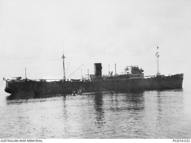 German armed merchant cruiser Pinguin in the Indian Ocean, 1941 (Australian War Memorial: P02018.032)