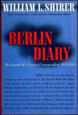 Cover of the first edition of Berlin Diary by William L. Shirer
