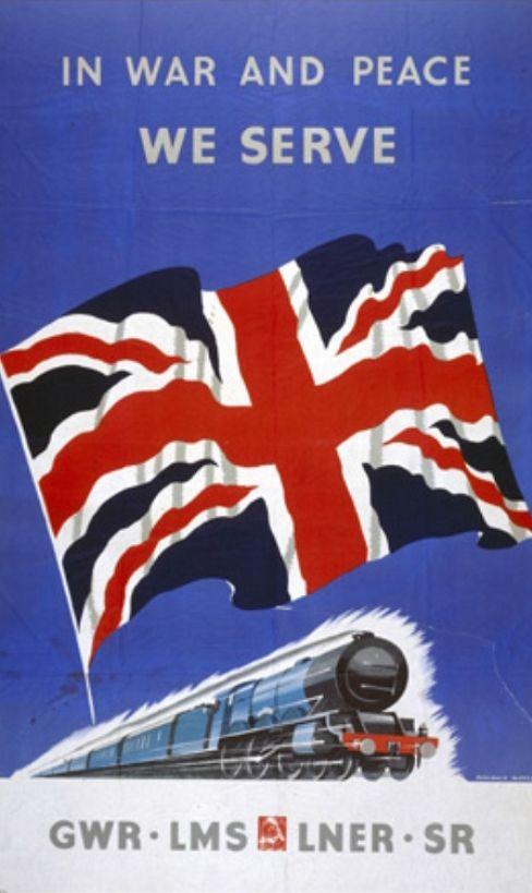 British railway poster, WWII