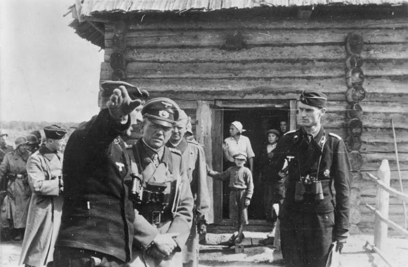 Gen. Heinz Guderian at a forward command post for one of his Panzer regiments near Kiev, Ukraine, 31 July 1941 (German Federal Archive: Bild 183-L19885)