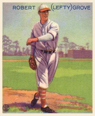 Baseball card for Lefty Grove, 1933 (Goudey Gum Company, public domain)