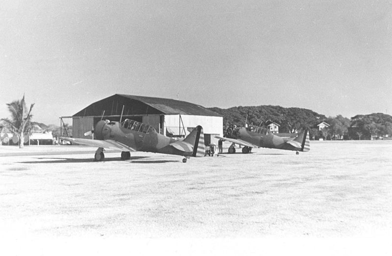 North American A-27s of the 17th Pursuit Squadron, US Far East Air Force, at Nichols Field in the Philippines, 1941 (US Air Force photo)