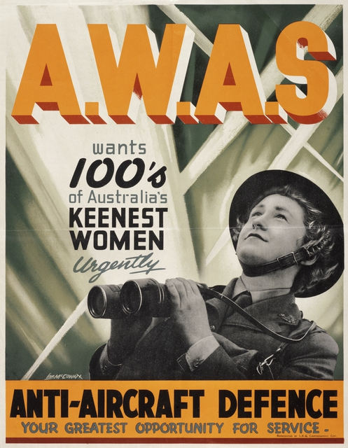 Poster for the Australian Women's Army Service (AWAS), WWII (Australian War Memorial: ARTV00335)