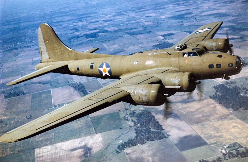 Boeing B-17E in flight, 1942. (U.S. Air Force photo)