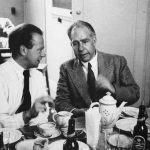 Werner Heisenberg and Niels Bohr at Copenhagen Conference, 1934 (US Department of Energy photo)