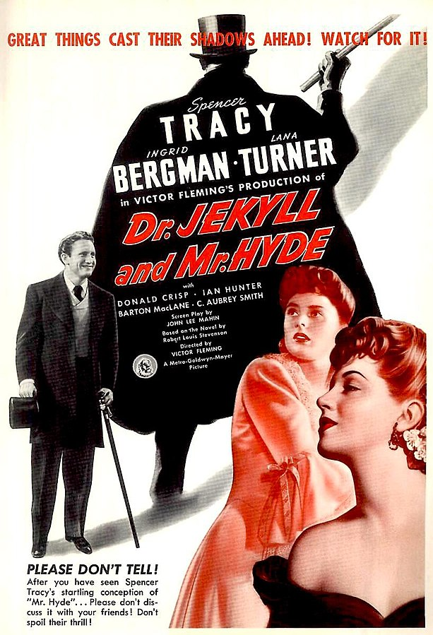 MGM movie poster for Dr. Jekyll and Mr. Hyde, 1941 (public domain via Wikipedia)