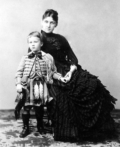 Sara Delano Roosevelt with son Franklin, 1887 (Franklin D. Roosevelt Library Public Domain Photographs)