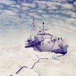 USCG cutter Northland in Greenland, 1944 (US Coast Guard photo)