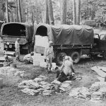 Quartermaster Supply Unit during Louisiana Maneuvers, September 1941 (Library of Congress AS-124-LC)