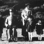Emperor Showa (Hirohito), Empress Kojun, and their children, 7 Dec 1941 (public domain via WW2 Database)