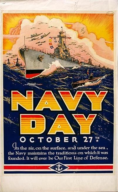 US Navy Day poster, 1941 (Bureau of Naval Personnel)
