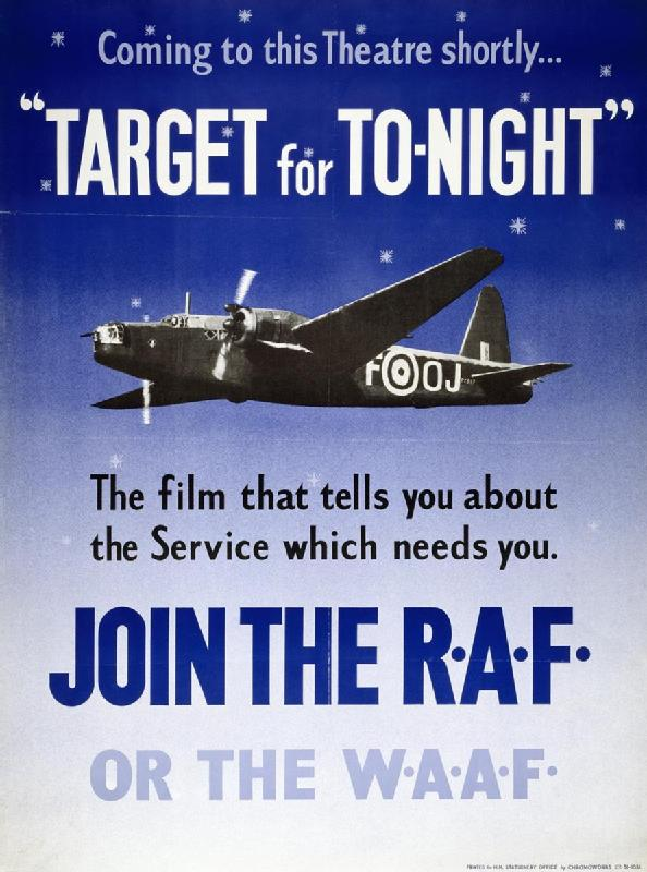 British poster for Target for Tonight (Imperial War Museum: Art.IWM PST 4015)