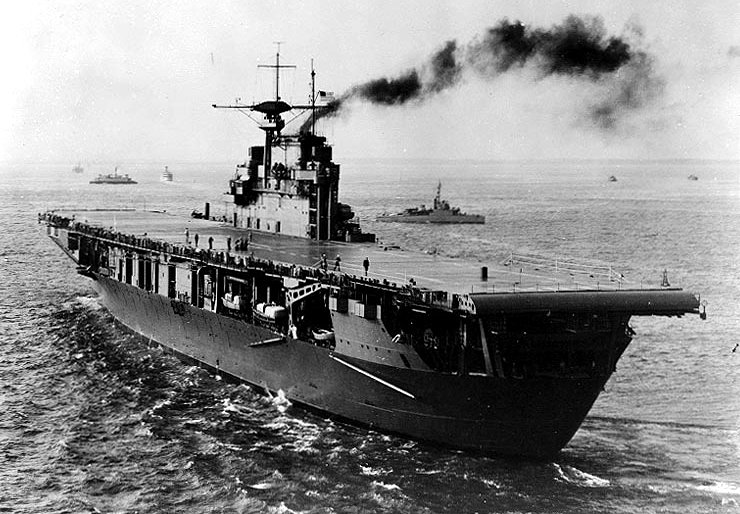 USS Hornet (CV-8), late 1941 (US Naval History & Heritage Command: NH 81313)