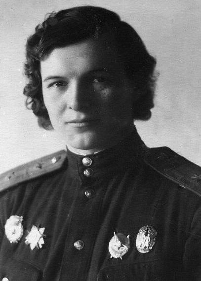 Yevdokiya Bershanskaya, 1943, leader of the Soviet 588th Night Bomber Regiment the only woman awarded the Order of Suvorov; under her command twenty-three aviators in the regiment became Heroes of the Soviet Union (public domain via Ministry of Culture of the Russian Federation)