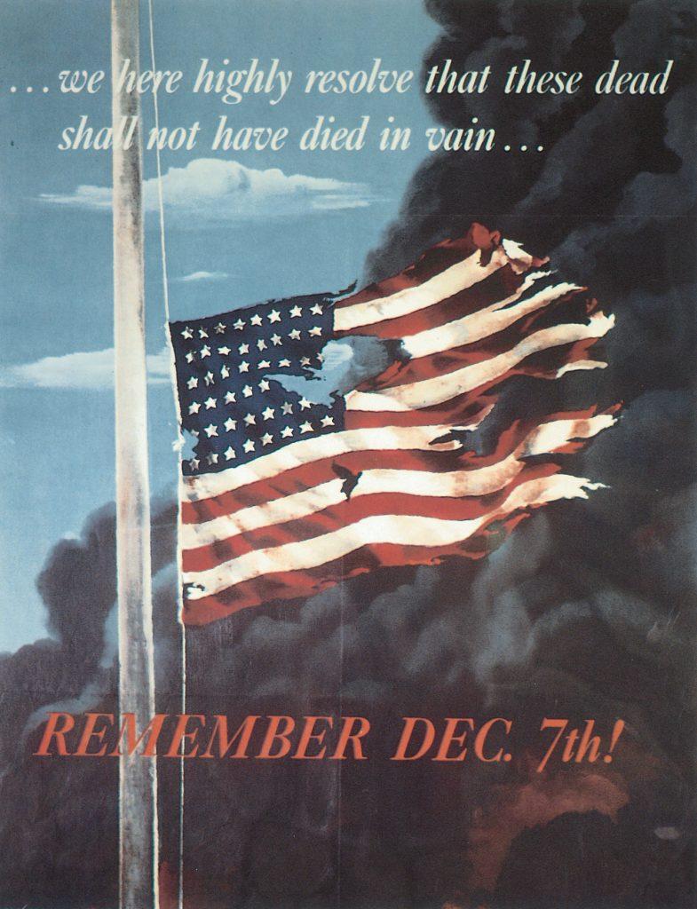 US poster commemorating Pearl Harbor, 1942