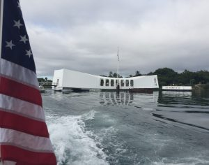 The USS Arizona Memorial, Pearl Harbor, Hawaii (Photo: Sarah Sundin, 7 Nov 2016)