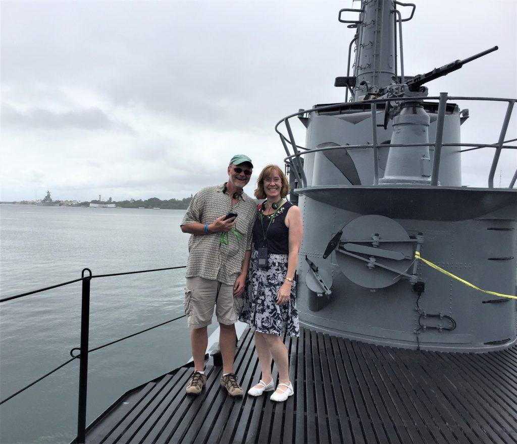 Dave and Sarah Sundin on the submarine USS Bowfin, Pearl Harbor (Photo: Sarah Sundin, 7 Nov 2016)