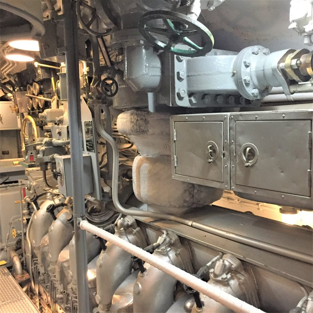 Engines of the USS Bowfin, Pearl Harbor (Photo: Sarah Sundin, 7 Nov 2016)