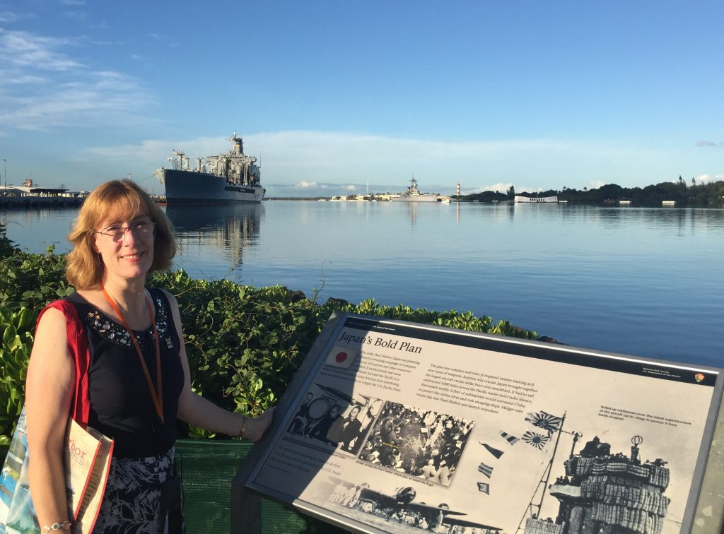 Sarah Sundin at Pearl Harbor, Hawaii, 7 Nov 2016 (Photo: Sarah Sundin)