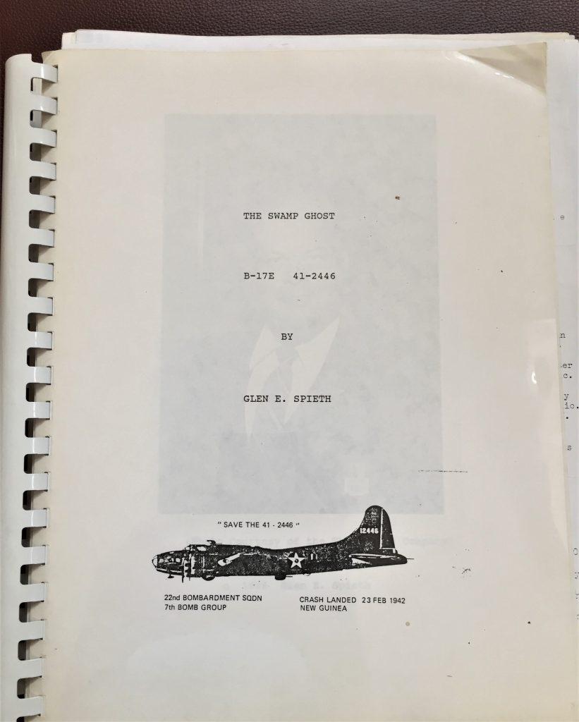 The Swamp Ghost, by Glen E. Spieth, 1986. (unpublished manuscript)