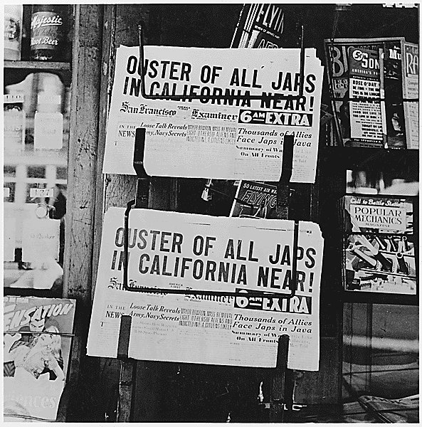 San Francisco Examiner headlines, San Francisco, CA, 22 Feb 1942 (US National Archives)