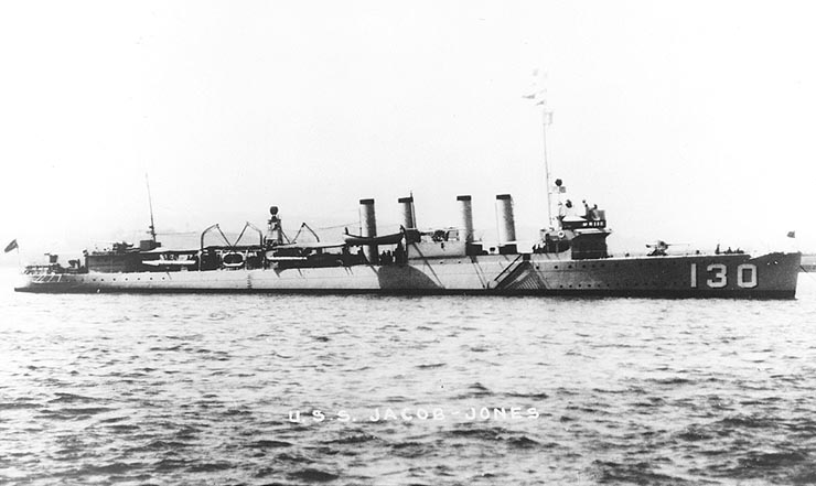Destroyer USS Jacob Jones, 1930s (US Navy photo)