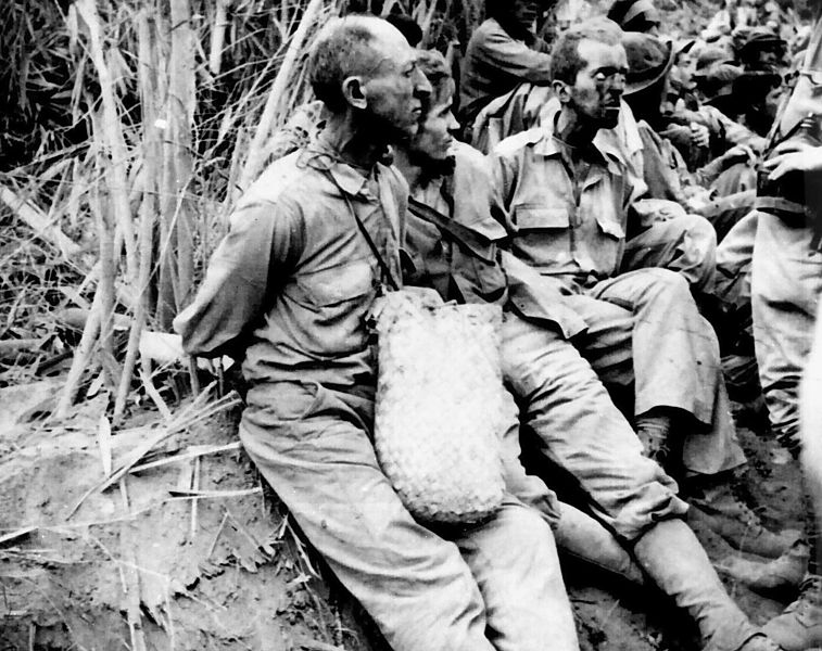 American prisoners on the Bataan Death March, April 1942 (US National Archives)