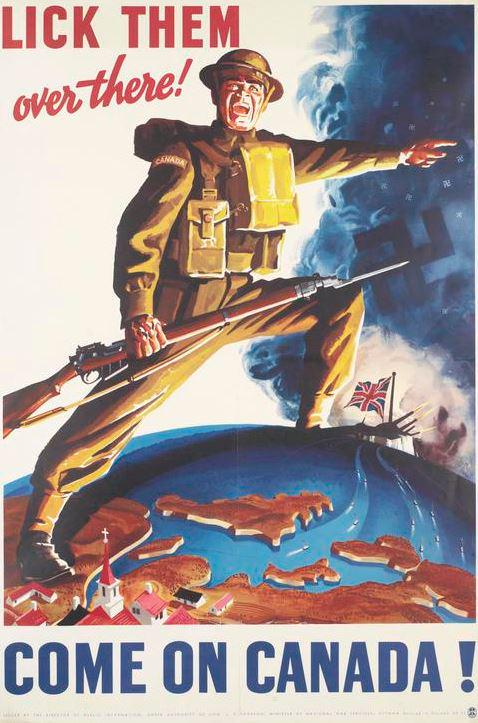 Canadian recruitment poster, WWII (Imperial War Museum)