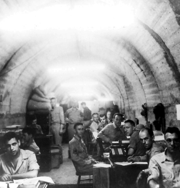 US soldiers in Malinta Tunnel on Corregidor, April 1942. (US Army Center of Military History)