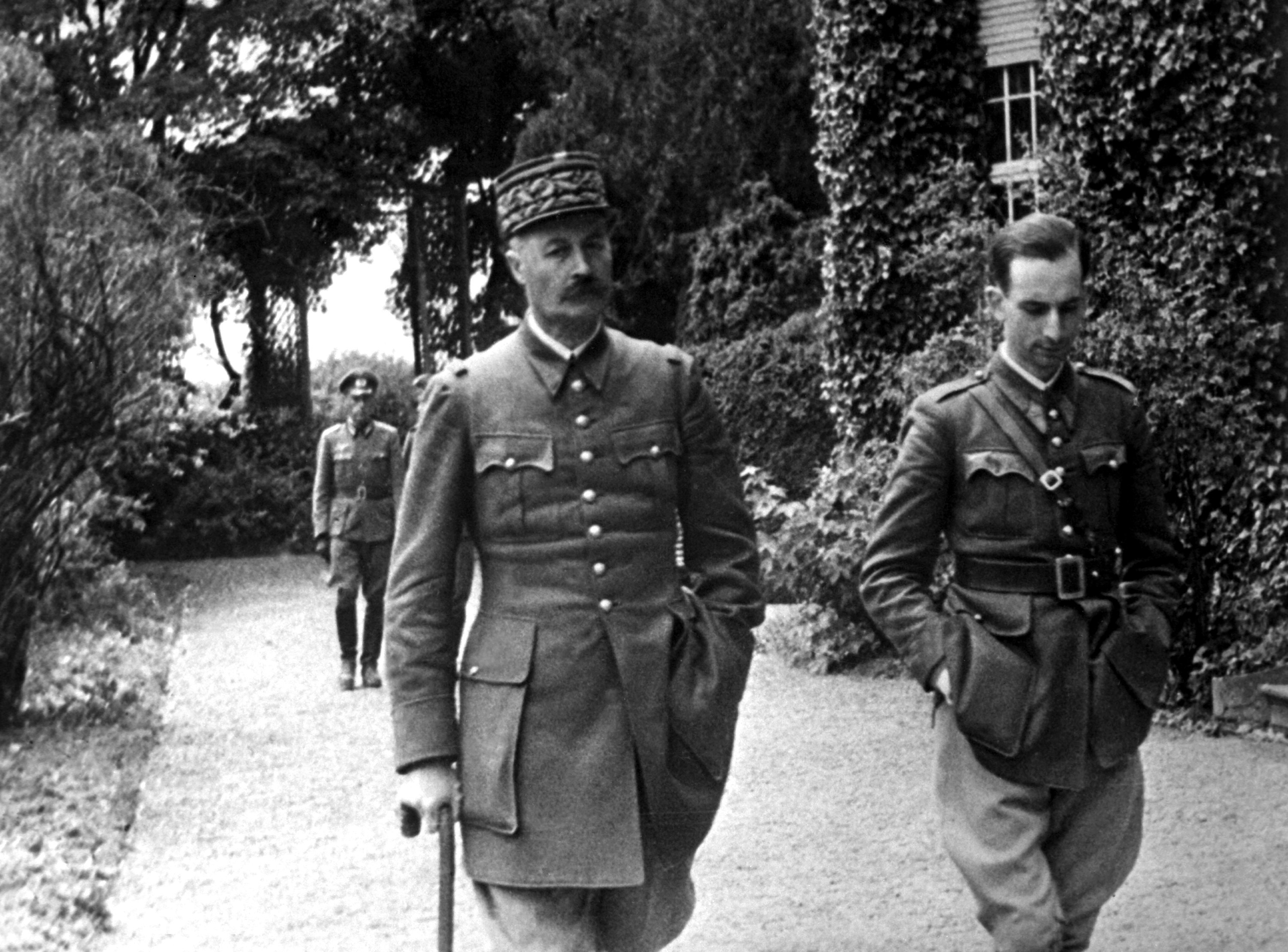 Captured French Army General Giraud at the house where he was imprisoned, Germany, 1940-1941 (US National Archives)