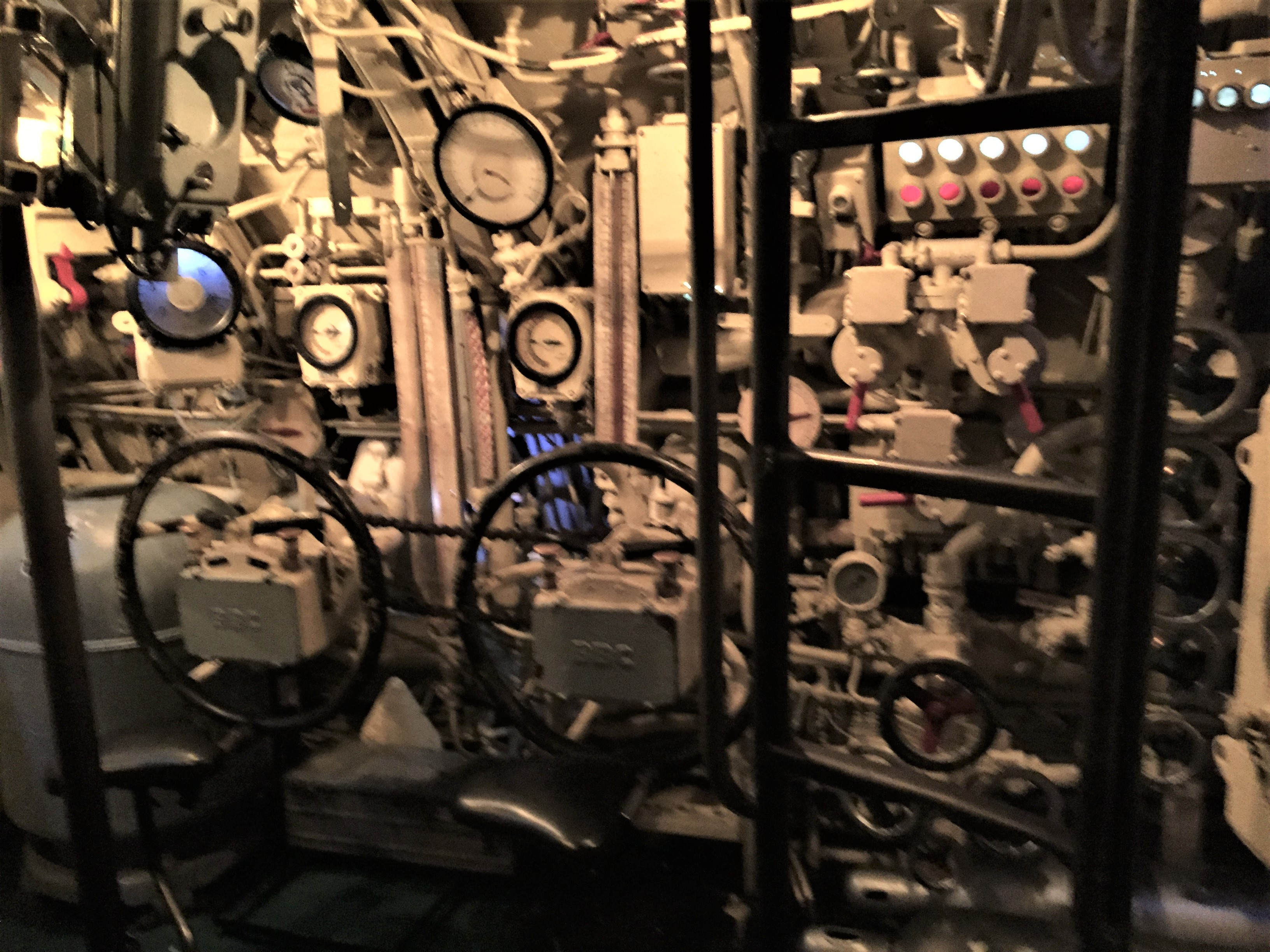 Control room in U-505, Chicago Museum of Science and Industry (Photo: Sarah Sundin, September 2016).