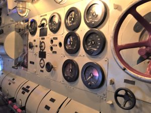 Electric motor room in U-505, Chicago Museum of Science and Industry (Photo: Sarah Sundin, September 2016).