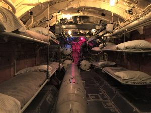 Forward torpedo room and bunks in U-505, Chicago Museum of Science and Industry (Photo: Sarah Sundin, September 2016).