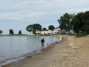 The shores of Lake Erie, Vermilion, Ohio (photo: Sarah Sundin, August 2016)