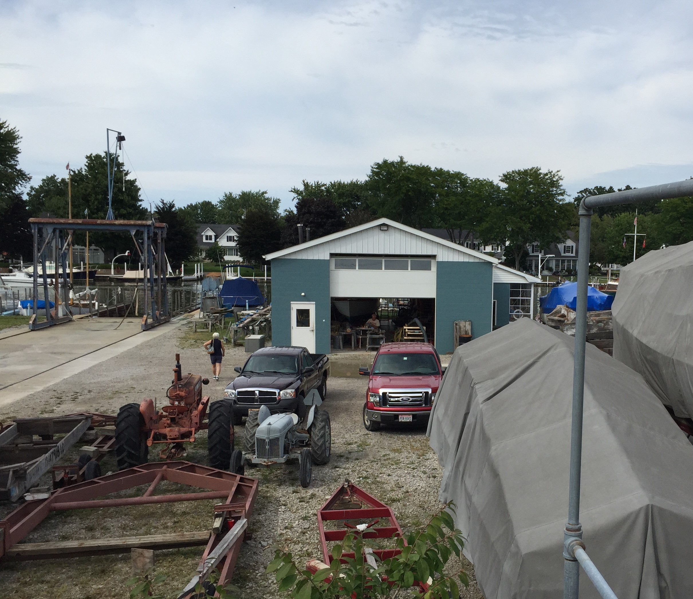 Boatyard in Vermilion, Ohio (Photo: Sarah Sundin, August 2016)