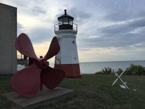 Vermilion Lighthouse, Vermilion, Ohio (Photo: Sarah Sundin, August 2016)
