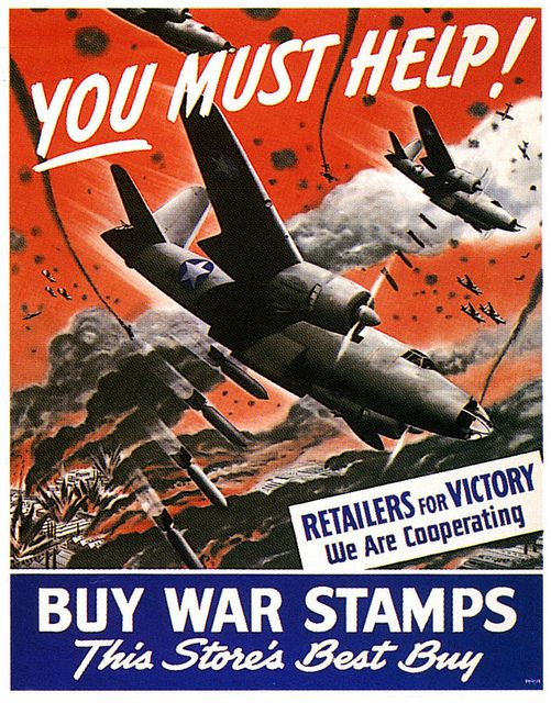 US poster encouraging purchase of War Stamps, WWII