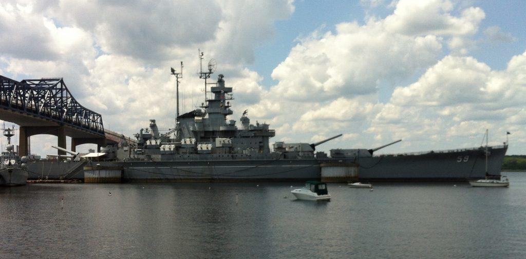 Battleship USS Massachusetts, Battleship Cove, Fall River MA (Photo: Sarah Sundin, July 2014)