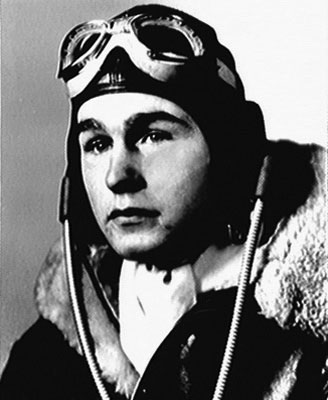 US Navy pilot Lt. George H.W. Bush, WWII (US Navy photo)