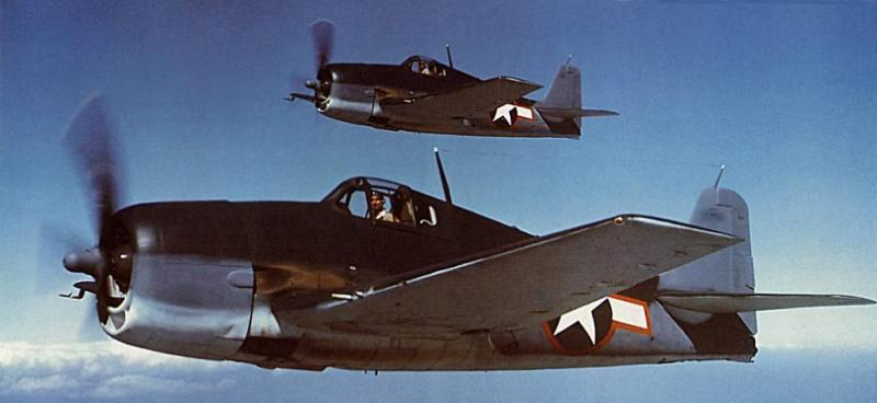 US Navy Grumman F6F-3 Hellcats, May 1943 (US National Museum of Naval Aviation)