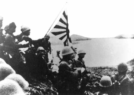 Japanese Special Naval Landing Force on Kiska in Aleutian Islands, 6 Jun 1942 (public domain via WW2 Database)